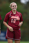 25 October 2009: Virginia Tech's Julia Goldsworthy. The Duke University Blue Devils defeated the Virginia Tech Hokies 4-1 at Koskinen Stadium in Durham, North Carolina in an NCAA Division I Women's college soccer game.