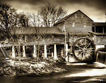 Antiqued image of the Old Mill in Pigeon Forge, Tennessee.