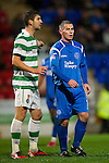 St Johnstone v Celtic..27.10.10  .Peter MacDonald makes his return to footbal after a long injury lay off.Picture by Graeme Hart..Copyright Perthshire Picture Agency.Tel: 01738 623350  Mobile: 07990 594431