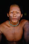 Kayapo portrait, Xingu River region, Brazil