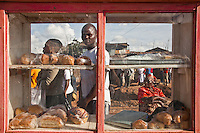 Moses Omondi, poet, spoken word artist, bread-seller Nairobi, Kenya, March 26,2011