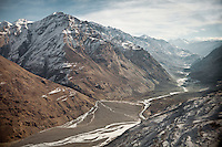 An overview of the Wakhan Corridor in Afghanistan. ..Flight with Kodiak plane from Kabul to Kret village (Wakhan Corridor), over the Panshir valley.