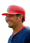 14 March 2007: Washington Nationals fielder Kory Casto waits for his turn in the batting cage prior to facing the St. Louis Cardinals at Roger Dean Stadium in Jupiter, Florida...Mandatory Photo Credit: Ed Wolfstein Photo