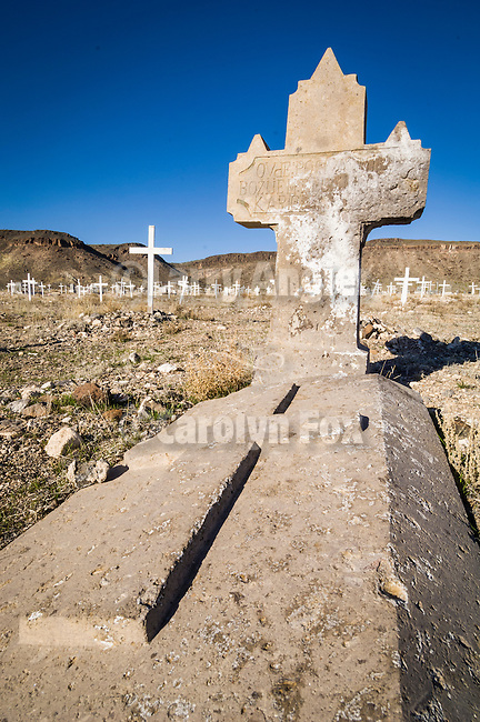 Historic early 1900s cemetery, Goldfield, Nevada