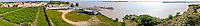 France, Blaye. The Citadel of Blaye at the Gironde estuary. Stitched panorama.