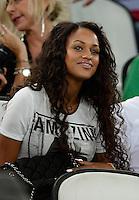 Fussball International  WM Qualifikation 2014   10.09.2013 Italien - Tschechien Fanny Neguesha, Freundin von Mario Balotelli (Italien)