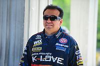 May 6, 2012; Commerce, GA, USA: NHRA funny car driver Tony Pedregon during the Southern Nationals at Atlanta Dragway. Mandatory Credit: Mark J. Rebilas-