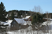 winter scenic view of Canadiana Village situated in Rawdon Quebec