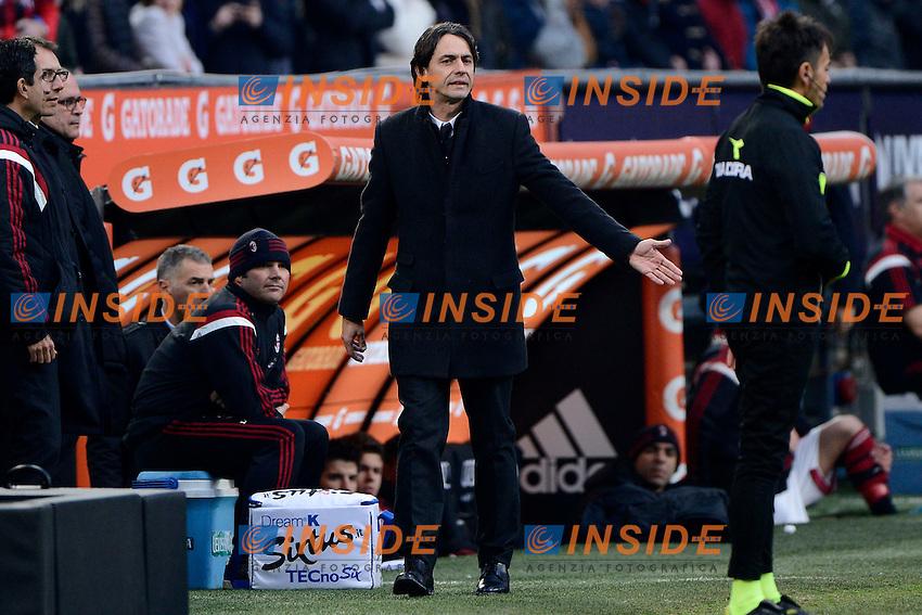 Espulsione Filippo Inzaghi Milan<br /> Milano 18-01-2015 Stadio Giuseppe Meazza - Football Calcio Serie A Milan - Atalanta. Foto Giuseppe Celeste / Insidefoto