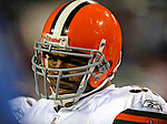 17 November 2008:  Cleveland Browns' running back Jamal Lewis watches from the sidelines during the third quarter against the Buffalo Bills at Ralph Wilson Stadium in Orchard Park, NY. The Browns defeated the Bills 29-27 in the Monday Night AFC matchup. *** Editorial Sales Only ****..Mandatory Photo Credit: Ed Wolfstein Photo