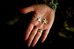 Mark Graham holds the stars that denote his rank as Major General.  On the underside of each star is engraved the name's of his dead sons, Kevin and Jeff.  Kevin, a ROTC cadet, committed suicide in 2003; his brother, Jeff, a Second Lt. on active duty in Iraq,  was killed by a roadside bomb shortly thereafter in 2004...Major General Mark Graham and his wife, Carol, talk about the deaths of their two sons in their Fort Carson home in Colorado Springs, Colo.  Their son, Second Lt. Jeff Graham was killed by a roadside bomb in Iraq just months after their other son, ROTC Cadet Kevin Graham, committed suicide in his apartment.  Since Kevin's suicide, the Grahams have been outspoken advocates for suicide prevention.