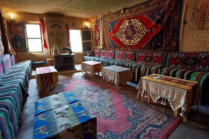 Inside a rock house of Uchisar, Cappadocia Turkey