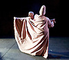 Ubu and the Truth Commission by Handspring, Jane Taylor and William Kentridge<br /> at the Coronet Print Room, Notting Hill Gate <br /> press photocall <br /> 16th October 2015 <br /> <br /> <br /> David Minnaar as Pa Ubu <br /> <br /> Busisiwe Busi Zokufa<br /> as ma Ubu <br /> <br /> <br /> Photograph by Elliott Franks <br /> Image licensed to Elliott Franks Photography Services
