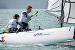 BelgiumSirena SL16OpenCrewBELMW2MorganWirtz<br /> BelgiumSirena SL16OpenHelmBELES4Eug&eacute;nieSimons<br /> Day4, 2015 Youth Sailing World Championships,<br /> Langkawi, Malaysia