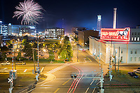 Fireworks over the Durham Bulls Athletic Park in Durham, N.C. on Friday, June 6, 2014. (Justin Cook)