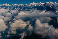 Nepal-Aerial views of Himalayas