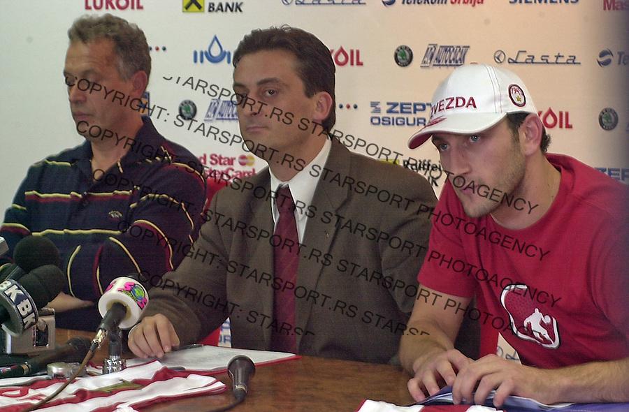 SPORT KOSARKA CRVENA ZVEZDA  Zmago Sagadin Zivorad Andjelkovic Jeretin Zivorad Andjelkovic 5.10.2004. foto: Pedja Milosavljevic