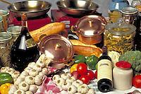 Italian still life food setting