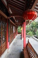 Pavilion, Rong Lake, Guilin, China, Asia