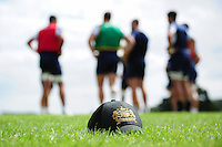 A general view of a Bath Rugby cap on the field. Bath Rugby pre-season training session on August 9, 2016 at Farleigh House in Bath, England. Photo by: Patrick Khachfe / Onside Images
