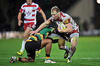 Matt Kvesic of Gloucester Rugby takes on the Northampton Saints defence. Aviva Premiership match, between Northampton Saints and Gloucester Rugby on November 27, 2015 at Franklin's Gardens in Northampton, England. Photo by: Patrick Khachfe / JMP