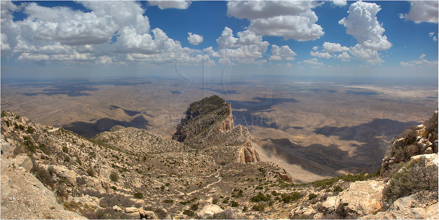 From the tallest point in Texas, the view from Guadalupe Peak is impressive as it looks out over the iconic El Capitan and the Chihuahuan Desert. The walk up to this point is aboiut 8.6 miles round trip and is fairly easy, but bring lots of your favorite liquid and watch out for storm clouds rolling in.