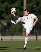 Boston College midfielder/defender Conor Fitzpatrick (8) traps the ball. Boston College defeated Harvard University, 2-0, at Newton Campus Field, October 11, 2011.
