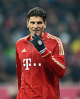 FUSSBALL   1. BUNDESLIGA  SAISON 2012/2013   17. Spieltag FC Bayern Muenchen - Borussia Moenchengladbach    14.12.2012 Mario Gomez (FC Bayern Muenchen)