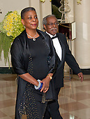 Ursula Burns, Chairman &amp; Chief Executive Officer, Xerox Corporation<br /> and Lloyd Bean arrive for the State Dinner in honor of Prime Minister Trudeau and Mrs. Sophie Gr&eacute;goire Trudeau of Canada at the White House in Washington, DC on Thursday, March 10, 2016.<br /> Credit: Ron Sachs / Pool via CNP