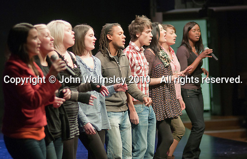 "The ACM Gospel Choir rehearse under their Musical Dirtector, Mark de Lisser.  Special Olympics Surrey put on a show,   ""Beyond the Stars"", at the Rose Theatre, Kingston upon Thames to raise money for the  SOGB team.  The Special Olympics are for athletes with learning disabilities."