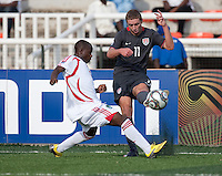 Nick Palodichuk kicks the ball. US Men's National Team Under 17 defeated Malawi 1-0 in the second game of the FIFA 2009 Under-17 World Cup at Sani Abacha Stadium in Kano, Nigeria on October 29, 2009.