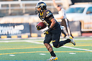 Baltimore, MD - SEPT 10, 2016: Towson Tigers Shane Simpson (13) returns a kickoff during game against Saint Francis at Johnny Unitas Stadium in Baltimore, MD. The Tigers defeated St. Francis 35-28. (Photo by Phil Peters/Media Images International)