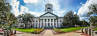 TALLAHASSEE, FLA. 9/2/15-Forida&rsquo;s Historic Capitol, foreground, and Capitol buildings in Tallahassee.<br /><br />EDITOR&rsquo;S NOTE: This image is comprised of multiple photos taken and the same moment and combined in photoshop to create a panorama.<br /><br />COLIN HACKLEY PHOTO