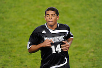 Greg Davis (14) of the Providence Friars. The Providence Friars defeated the Cincinnati Bearcats 2-1 during the semi-finals of the Big East Men's Soccer Championship at Red Bull Arena in Harrison, NJ, on November 12, 2010.