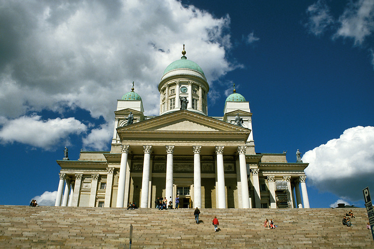 Finland, Helsinki, Lutheran Church on Senate Square, Photo: crubal102  .Photo Copyright: Lee Foster, (510) 549-2202, lee@fostertravel.com, www.fostertravel.com