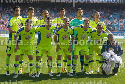 Getafe's team photo // during the football match of spanish 'primera divison' league, 31th round, between Atletico Madrid and FC Getafe at Vicente Calderon stadium, Madrid, Spain on 2012/04/01. EXPA Pictures © 2012, PhotoCredit: EXPA/ Alterphotos/ Acero..***** ATTENTION - OUT OF ESP and SUI *****