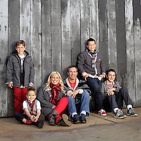 22 November 2012: Scott, Lisa, Logan, Jackson, Joshua and Luke Niedermayer.   Family photos in Costa Mesa, CA.