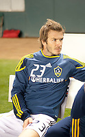 CARSON, CA – SEPTEMBER 10: LA Galaxy midfielder David Beckham (23) during pregame at Home Depot Center, September 10, 2010 in Carson California.