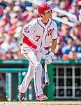 20 September 2015: Washington Nationals infielder Trea Turner cracks his bat during a game against the Miami Marlins at Nationals Park in Washington, DC. The Nationals defeated the Marlins 13-3 to take the final game of their 4-game series. Mandatory Credit: Ed Wolfstein Photo *** RAW (NEF) Image File Available ***