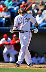 4 March 2012: Washington Nationals outfielder Jayson Werth in action against the Houston Astros at Space Coast Stadium in Viera, Florida. The Astros defeated the Nationals 10-2 in Grapefruit League action. Mandatory Credit: Ed Wolfstein Photo