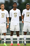 12 September 2014: Pitt's Kevin Angulo (CAN). The University of North Carolina Tar Heels hosted the Pittsburgh University Panthers at Fetzer Field in Chapel Hill, NC in a 2014 NCAA Division I Men's Soccer match. North Carolina won the game 3-0.