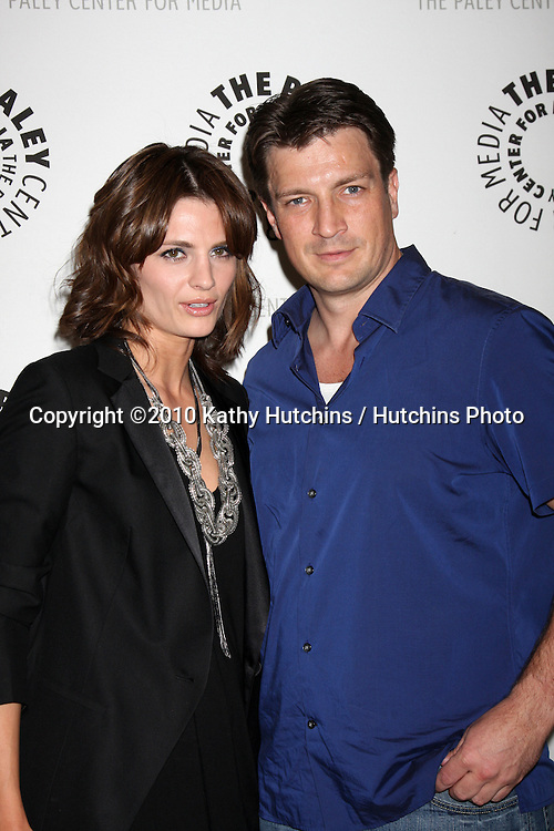 "Stana Katic & Nathan Fillion.arrives at the ""An Evening With Castle""  .Paley Center For Media.Los Angeles, CA.March 16, 2010.©2010 Kathy Hutchins / Hutchins Photo...."