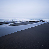 Black sand at Westport-Union Landing state beach, Mendocino County, California