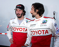 Keanu Reeves & Adrien Brody  at  the 33rd Annual Toyota Pro/Celeb Race Press Day at the Grand Prix track in Long Beach, CA on April 7, 2009.©2009 Kathy Hutchins / Hutchins Photo....                .
