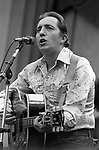 "Paul Siebel, Oct. 6, 1979, Bread & Roses Festival, Greek Theater, Berkeley, CA.44-3-23. American singer-songwriter and guitarist, born on September 19, 1937 in Buffalo, NY. He is best known for the cover versions of his songs, most notably ""Louise"". Other notable Siebel songs include ""Spanish Johnny,"" Long Afternoons,"" ""Any Day Woman,"" and ""Nashville Again."""