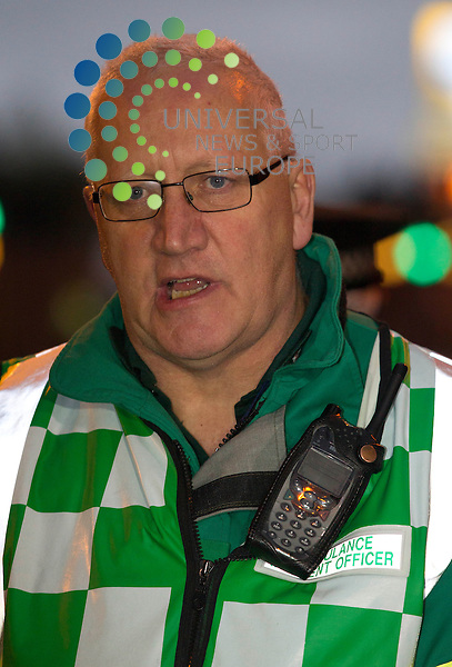 Gary Hardacre, Scottish Ambulance Service: Eight people are now confirmed to have died after a police helicopter crashed into a busy pub in Glasgow city centre.<br /> Three people inside the helicopter and five people inside The Clutha were killed after the Police Scotland aircraft came down at 22:30 on Friday.<br /> A further 14 people are being treated for &quot;very serious injuries&quot; in hospitals across the city.<br /> A major investigation is under way and the Air Accidents Investigations Branch will conduct an inquiry into the crash.<br /> The three occupants of the helicopter were two police officers and a civilian pilot.<br /> Picture: Maurice McDonald/Universal News And Sport (Europe) 30 November  2013