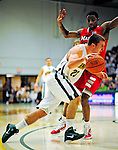 12 December 2010: University of Vermont Catamount forward Brian Voelkel, a Freshman from Pleasantville, NY, in action against the Marist College Red Foxes at Patrick Gymnasium in Burlington, Vermont. The Catamounts (7-2) defeated the Red Foxes  75-67 notching their 7th win of the season, and their best start since the '63-'64 season. Mandatory Credit: Ed Wolfstein Photo
