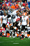 11 October 2009: Cleveland Browns' wide receiver Josh Cribbs in action against the Buffalo Bills at Ralph Wilson Stadium in Orchard Park, New York. The Browns defeated the Bills 6-3 for Cleveland's first win of the season...Mandatory Photo Credit: Ed Wolfstein Photo