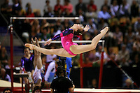 Oct 19, 2006; Aarhus, Denmark;  Hollie Dykes of Australia performs split leap on floor exercise during women's ALL-Around final at 2006 World Championships Artistic Gymnastics.