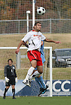 12 November 2008: Maryland's Graham Zusi (11) and UNC's Garry Lewis (behind). The University of Maryland defeated the University of North Carolina 1-0 at Koka Booth Stadium at WakeMed Soccer Park in Cary, NC in a men's ACC tournament quarterfinal game.